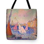 Signac: St. Tropez Harbor Tote Bag by Granger