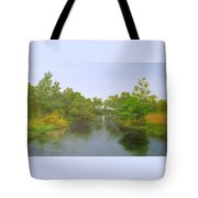 Signed Fluss By Samuel Matheis Acrylic River Holzminde, Holzminden, Germany. Tote Bag