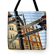 Signpost In London Tote Bag by Elena Elisseeva