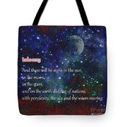 Signs In The Sun Moon Stars Tote Bag