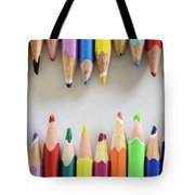Signs Of A Recent Past. Old Colored Pencils Tote Bag