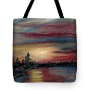 Silence Ahead Of The Storm Tote Bag