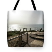 Silence And Solitude - A Special Sunset Throne High Above The Ocean Tote Bag