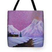 Silence Of Snow Tote Bag