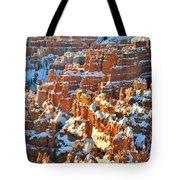 Silent City Snowy Hoodoos Tote Bag