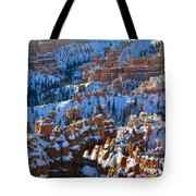 Silent City Winter Tote Bag