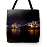 Silent Lights Of The Magic Night. Tote Bag