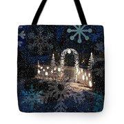 Silent Night Snow Tote Bag