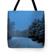 Silent Winter Night  Tote Bag