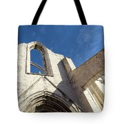 Silent Witness - Carmo Convent Roofless Ruin In Lisbon Portugal Tote Bag
