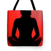 Silhouette In Red #1 Tote Bag