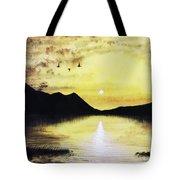 Silhouette Lagoon Tote Bag