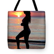 Silhouette Of A Fit Woman  Tote Bag