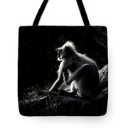 Silhouette Of A Monkey Tote Bag