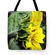 Silhouette Of A Sunflower Tote Bag