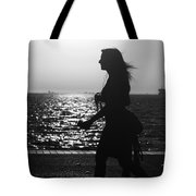Silhouette Of A Woman Tote Bag