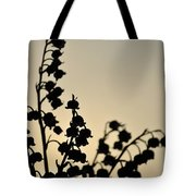 Silhouette Of Lilies Of The Valley 2 Tote Bag