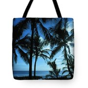 Silhouette Of Palms Tote Bag