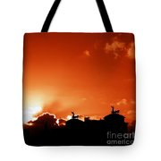 Silhouette Of Rome Against A Sunset Sky Tote Bag