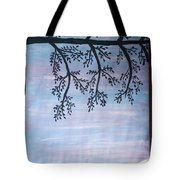 Silhouette Of Tree Tote Bag