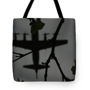 Silhouette Of War And Peace Tote Bag