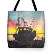 Grounded Shrimp Boat Tote Bag