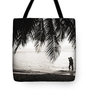 Silhouetted Couple Tote Bag
