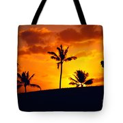 Silhouetted Golfer Tote Bag by Dana Edmunds - Printscapes