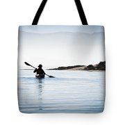 Silhouetted Kayaker In Morro Bay Tote Bag