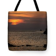Silhouetted North Pier  Tote Bag