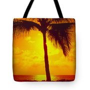 Silhouetted Palm Tote Bag