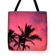 Silhouetted Palms Tote Bag