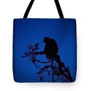 Silhouetted Proboscis Monkey Nasalis Tote Bag