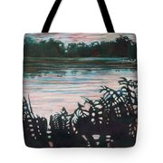 Silhouetted Serenity Tote Bag