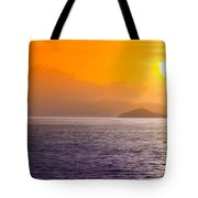 Silhouetted Ship  Tote Bag