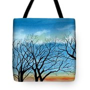 Silhouettes Against The Sky Tote Bag