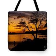Silhouettes At Sunrise Tote Bag
