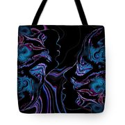 Silhouettes In Black Light. Tote Bag