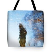 Silhouettes In Blue Sky Tote Bag