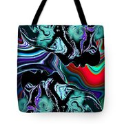 Silhouettes Striking The Magical Mirror. Tote Bag