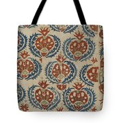 Silk Embroidered Linen Panel Tote Bag
