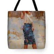 Silk Tote Bag by Laura Lee Zanghetti