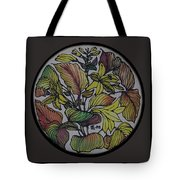 Silk Leaves Tote Bag