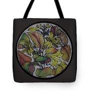 Silk Leaves Tote Bag