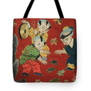 Silk Robe - Children Playing With Turtle Tote Bag