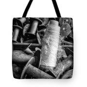 Silk Thread Spools Bw Tote Bag