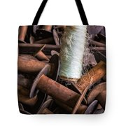 Silk Thread Spools Tote Bag