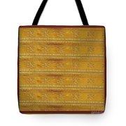 Silken Gold Border Stripes With Jewel Imprint Elegant Border Energy Healing Art By Navinjoshi Finear Tote Bag