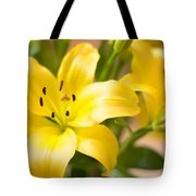 Silky Lilies Tote Bag