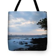 Silky Waves At Dusk Tote Bag